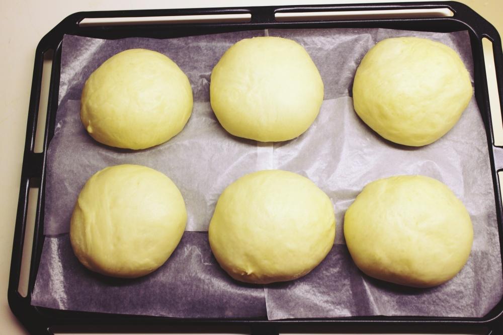 10) 發好後的麵團